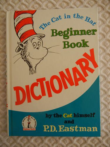 A silly book with a serious purpose—to help children recognize, remember, and really enjoy using a basic vocabulary of 1350 words. Written and illustrated by P. D. Eastman—with help from the Cat (Dr. Seuss)—this decades-old dictionary pairs words with pictures that carry their meaning, making it simple enough even for nonreaders to understand. A wacky cast of characters reappears throughout the book, making this perhaps the only dictionary in the world that is actually fun to read!