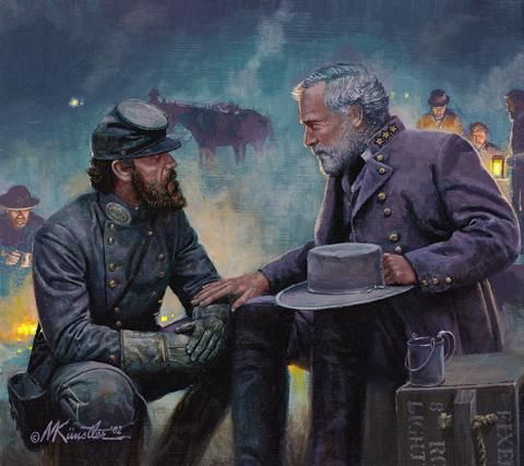 Jackson and Lee. So much manliness in one picture./ I'm not a southerner, but I do agree. Both were some of the manliest of men.