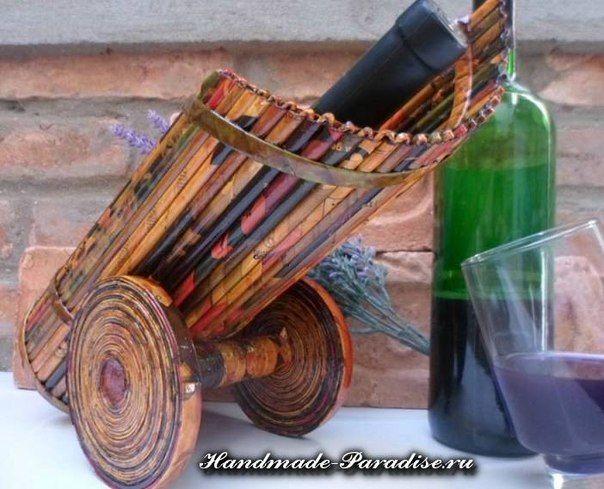 Materiales gráficos Gaby: Porta botella de vino con papel de diario paso a paso
