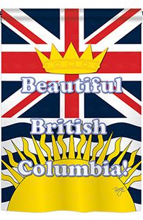 British Columbia 2-Sided Vertical Flag