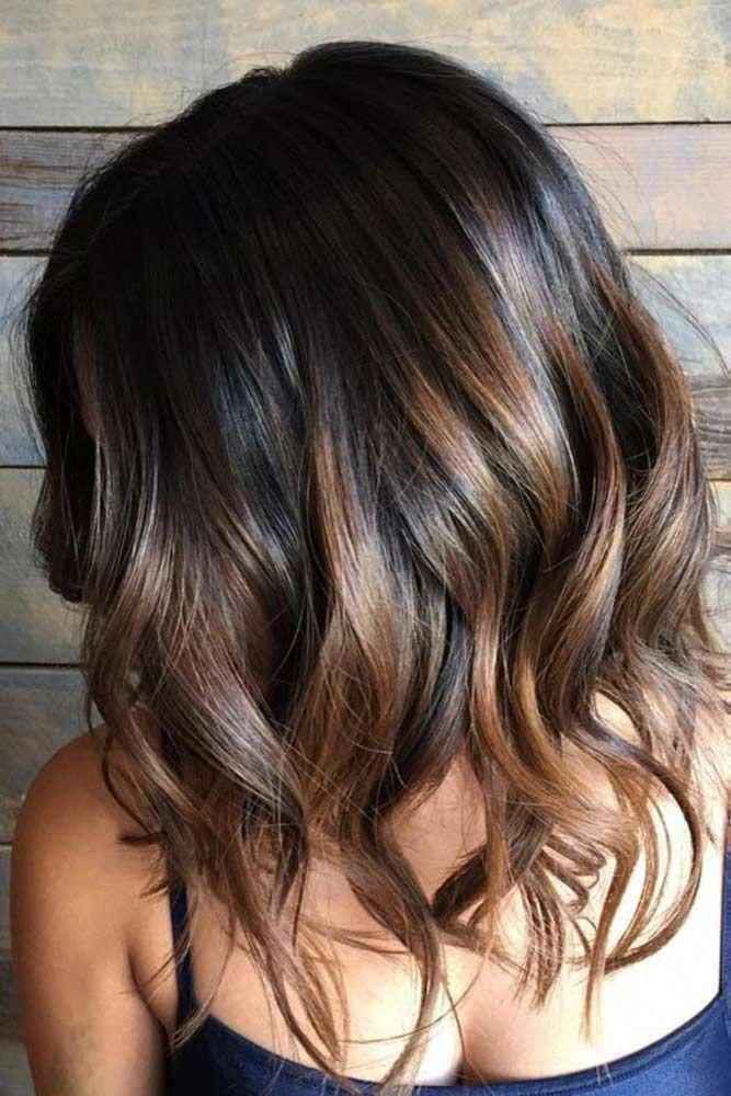 Balayage Highlights On Short Black Hair Blackhair Short Ombre