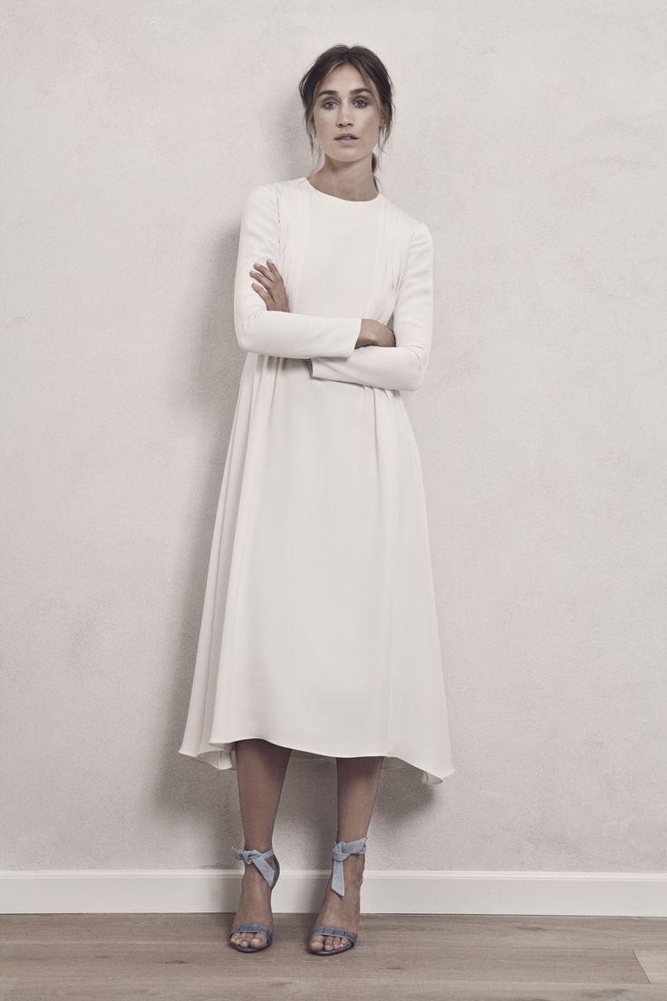 The 25 best civil wedding dresses ideas on pinterest vintage ingrid simple scandi cool wedding dress by maria fekih junglespirit Images