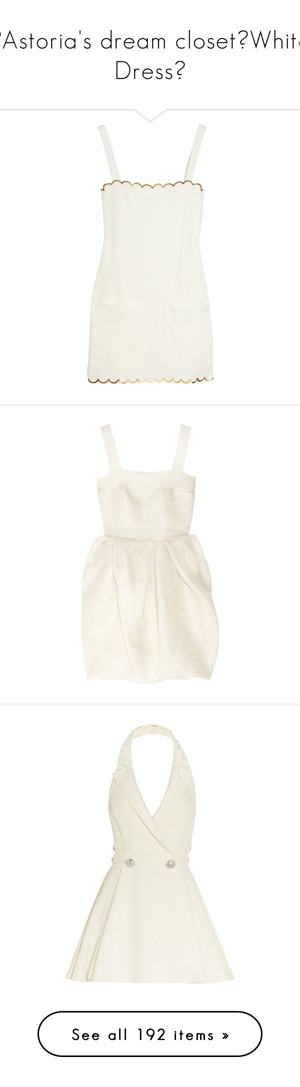 """""""♡Astoria's dream closet♡White Dress♡"""" by astoriachung ❤ liked on Polyvore featuring dresses, vestidos, tops, short dresses, cream cocktail dress, chloe dress, short white cocktail dress, white cocktail dresses, stretch dress and lanvin"""