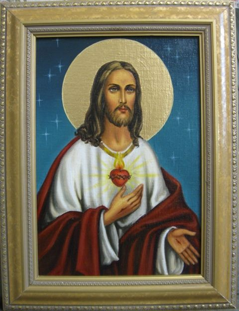 Сердце Иисуса (холст,масло)