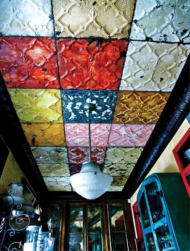 Ceiling tiles never looked so wonderful. Inside Lorraine Kirke's Quirky, Inventive Interiors - -Wmag