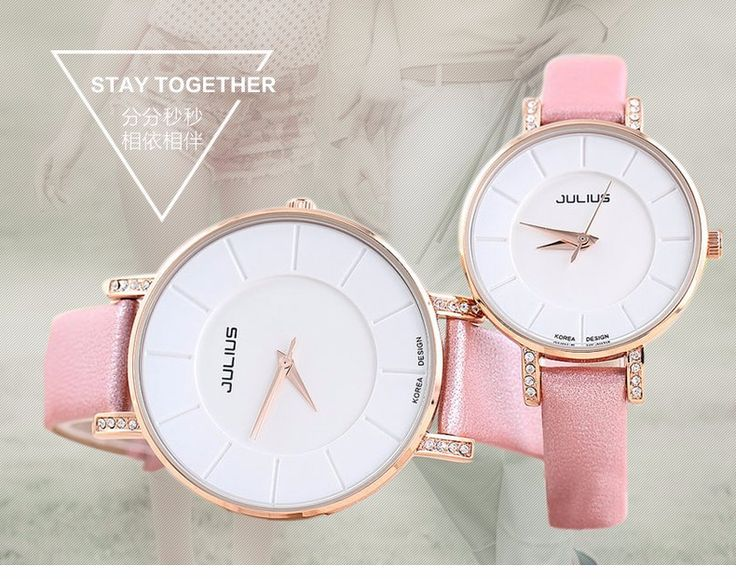 Top Julius Women's Men's Wrist Watch Big Fashion Hours Dress Bracelet Simple Leather School Lovers Couple Birthday Gift JA-766