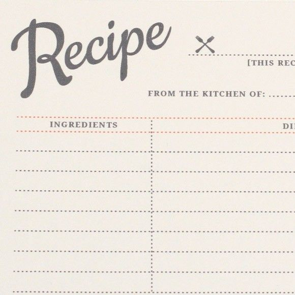 35 best RECIPE CARDS images on Pinterest