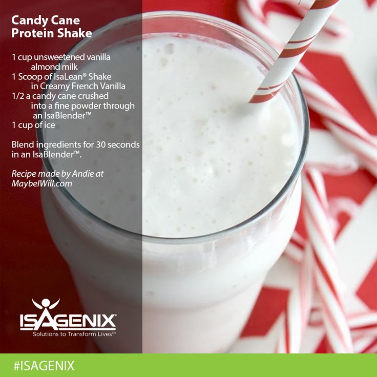The IsaLean Candy Cane Protein Shake recipe has just what your body needs after a workout. So is it naughty or nice?  Mvanness3@hotmail.com