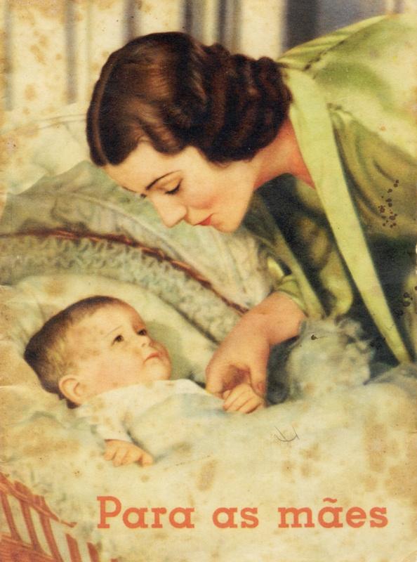 Para as Mães, folheto contendo orientações sobre higiene e alimentação da criança, desde seu nascimento.Nestlé 1940