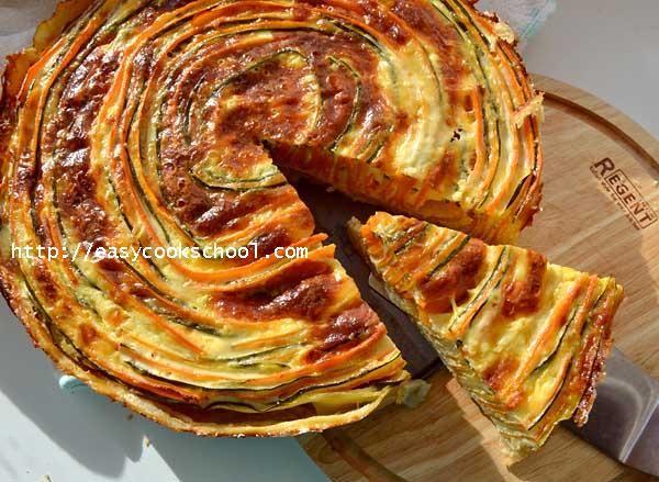 Пирог с кабачками, интересный рецепт | Легкие рецепты