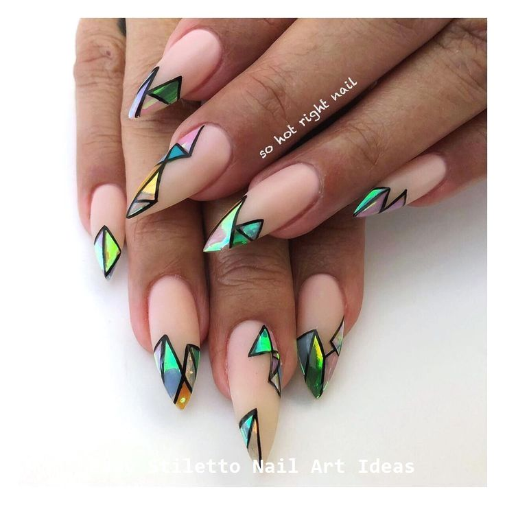 30 Great Stiletto Nail Art Design Ideas #naildesigns #nail