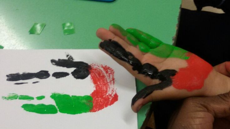 Uae Flag Activity For National Day Or The Letter Ff Pre