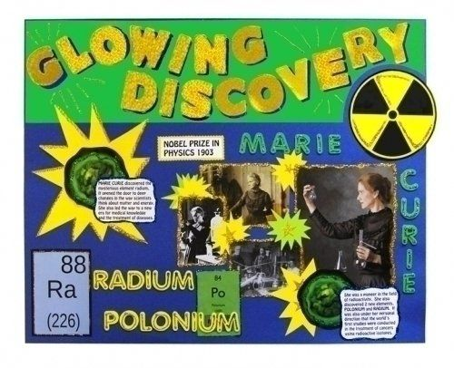 Make a Science Fair Project about Marie Curie: Famous Scientist Poster Ideas for your Kids.