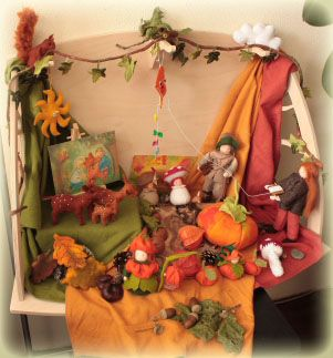 Autumn Table/Small World Play (from Wolfjes-Wereld Blogspot)