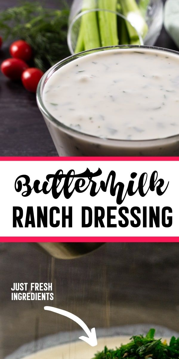With All Fresh Ingredient This Buttermilk Ranch Dressing Recipe Is Just Perfe Buttermilk Ranch Dressing Recipe Ranch Dressing Recipe Buttermilk Ranch Dressing