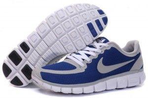 Herre Løpesko Nike Free 5.0 V5 Sko Blå/Hvit