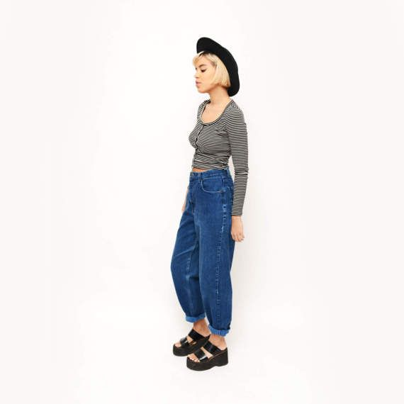Vintage High Waisted Route 66 Jeans / Boyfriend by TheWanderly