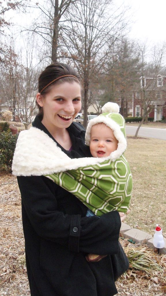 fur lined baby sling, if I ever have a kid during the winter