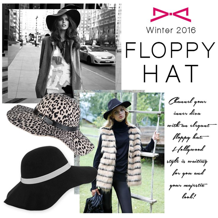 Channel your inner diva with a floppy hat!