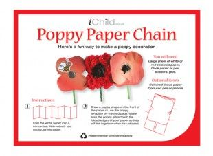 <p>Using our fantastic poppy paper chain template, your child can produce their very own poppy decoration! Please ensure ALL cutting out is completed with an adult!</p>