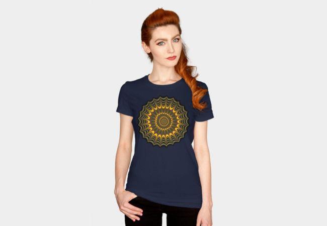 Halloween fractal spider web T-Shirt by Natalia Bykova on Design By Humans. #DesignByHumans, #Halloween, #spiderweb, #fractaldesign, #tshirt, #tees, #printedtee, #womenstshirt
