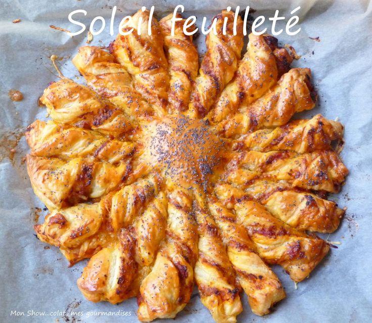 La blogosphère regorge d'idées rigolotes et toute simples pour s'amuser en cuisine. Ce soleil feuilleté en fait partie et il a fait le tour de beaucoup de blogs. Pour l'avoir testé avec plusieurs associations différentes, je vous propose aujourd'hui celle...