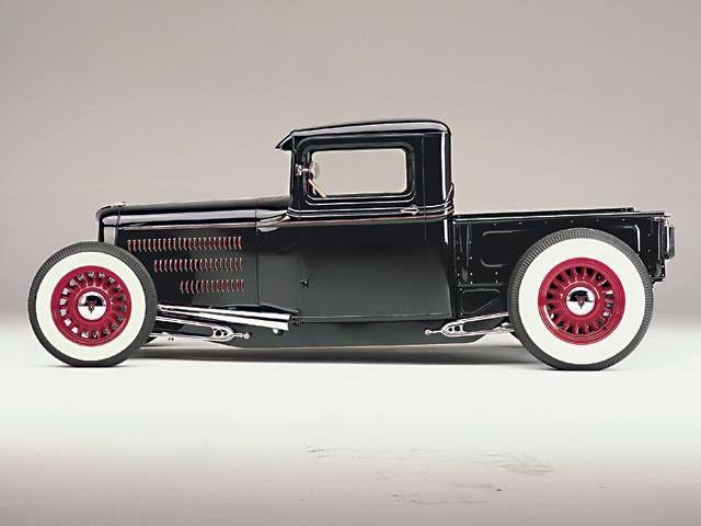Old school hot rod truck.
