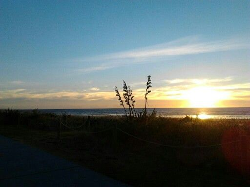 Sunset Paraparaumu Beach New Zealand.