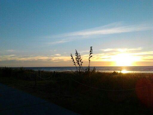 Sunset Paraparaumu Beach New Zealand.