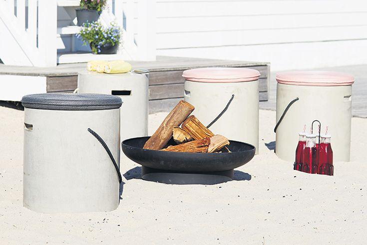 Cu recipientul pentru foc ROSENFINK poți avea un fermecător foc de tabără la petrecerile de vară din grădină. Vezi pe blog mai multe idei de garden party!