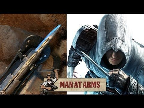 Master blacksmith and prop maker Tony Swatton recreates the Hidden Blade and Pirate Cutlass from AC IV