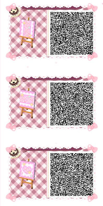 Acnl Achhd Qr Code Pink Wall Floor Fabric Path Hha