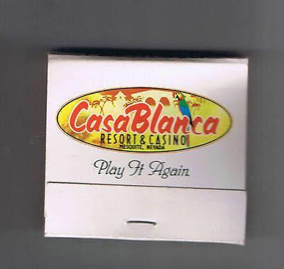 Matchbook Cover: CasaBlanca Resort & Casino, Mesquite, Nevada