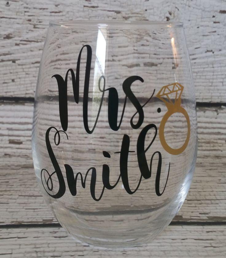 Mrs Wine Glass, Bride Wine Glass, Wedding Glass, Wife glass, Wifey wine glass…