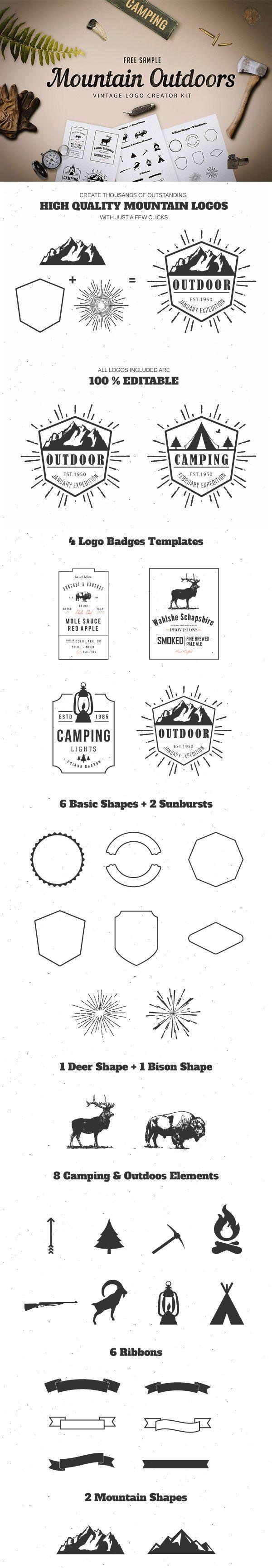 17 best ideas about create logo créer un logo mountain outdoor logo design kit for graphic design