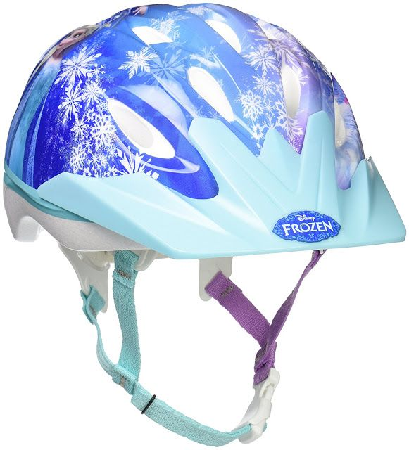 """Cute Bike Helmet for Girls. The Bell Frozen Child Bike Helmet - Family Forever is designed with a 'True fit"""" fitting system which self-adjusts to a perfect fit quickly and snugly. No more impatient waiting to adjust and fix the straps which is the case with most helmets."""