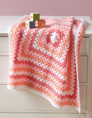 Marble  Baby Throw ~ I love baby blankets and I absolutely adore granny squares!