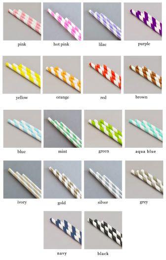 Striped Paper Straws (Set of 25)