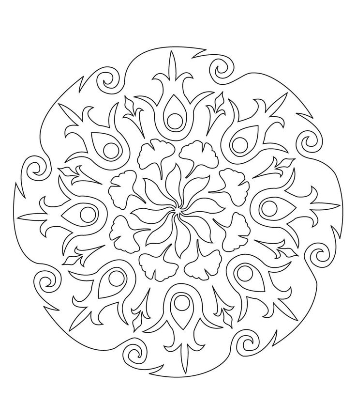 1000 images about desen motif on pinterest islamic patterns persian and coloring pages - Mandala pour adulte ...