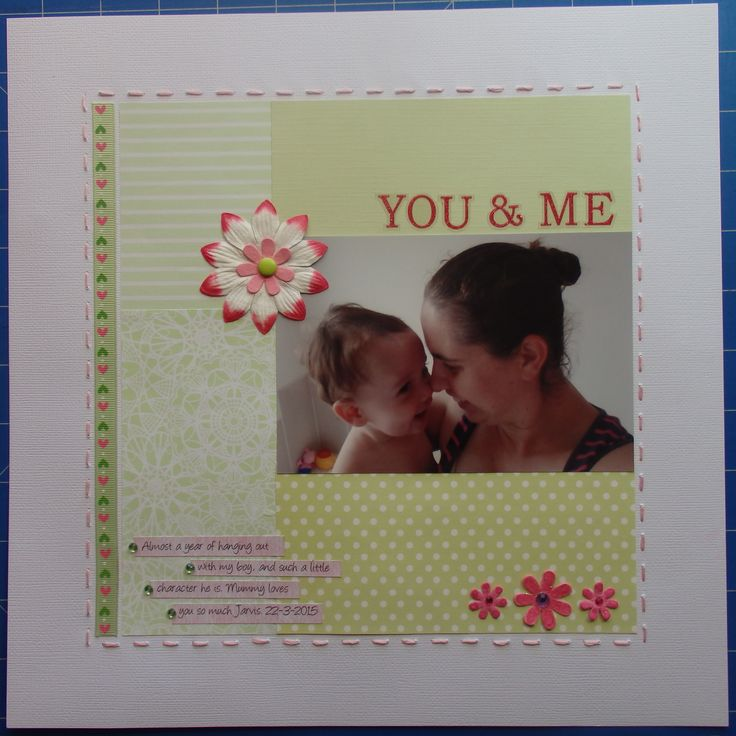 Scrapbook page by Laura: You & me