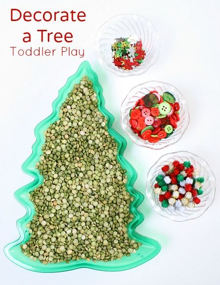 Decorate a Tree Christmas Sensory Activity for Toddlers