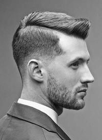 width Side Partie Pompadour Cheveux courts Hommes Coiffures