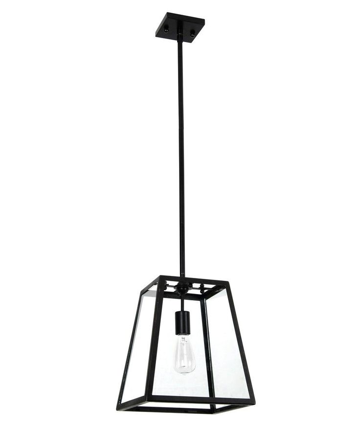 Southampton 1 Light Pendant in Antique Black