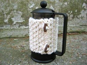 café acolhedor de crochê