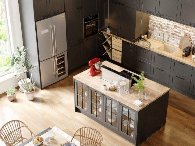 26 cuisines ouvertes avec lot central pour s 39 inspirer Cuisine equipee marron