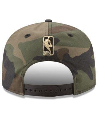New Era Golden State Warriors Metallic Woodland 9FIFTY Snapback Cap - Green Adjustable