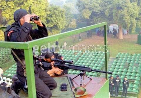 Sniper cell from the India's elite domestic counter terrorism force National Security Guard.