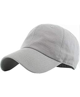 9f49951c11 KB-LOW LGY Classic Cotton Dad Hat Adjustable Plain Cap. Polo Style Low  Profile (Unstructured) (Classic) Light Gray Adjustable