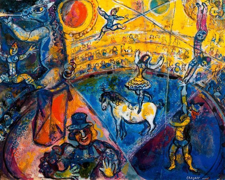 urgetocreate:  Marc Chagall, The Circus, 1964