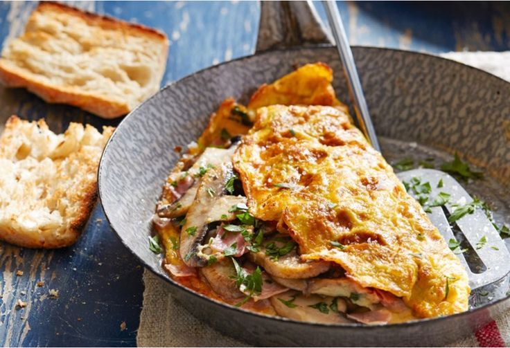 how to make cheese and mushroom omelette